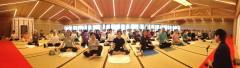 京都嵐山の小倉百人一首殿堂「時雨殿」で雄弘ヨーガの実践セミナーが開催されました