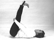ひざを伸ばす体位